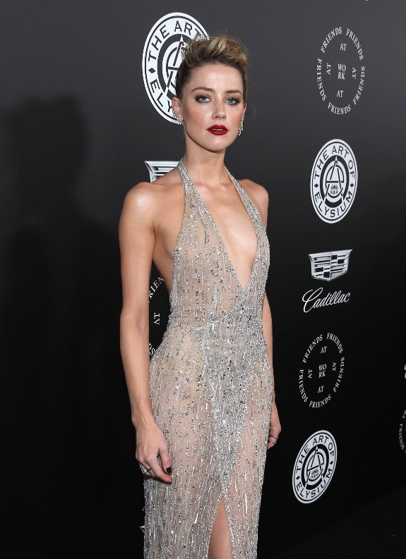 Amber Heard Wears Georges Hobeika Couture