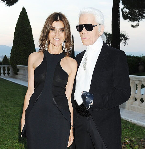 Carine Roitfeld With Karl Lagerfeld