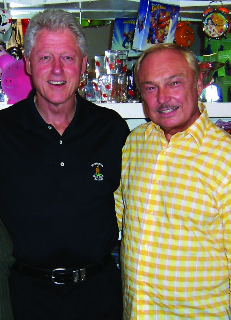 Stephen Bruce and Bill Clinton