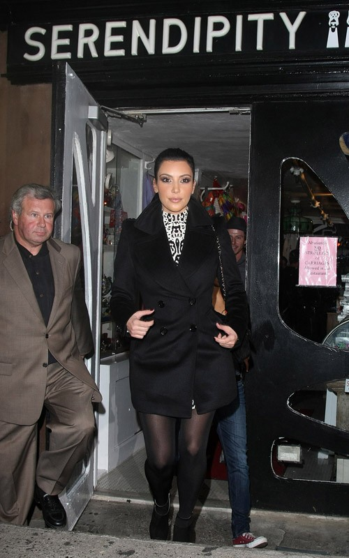 Kim Kardashian At  Serendipity NYC
