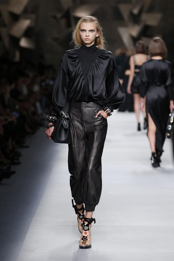 Fendi SS16 MFW Leather Pants