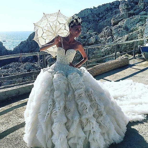 The bride wore a custom made Alexander McQueen