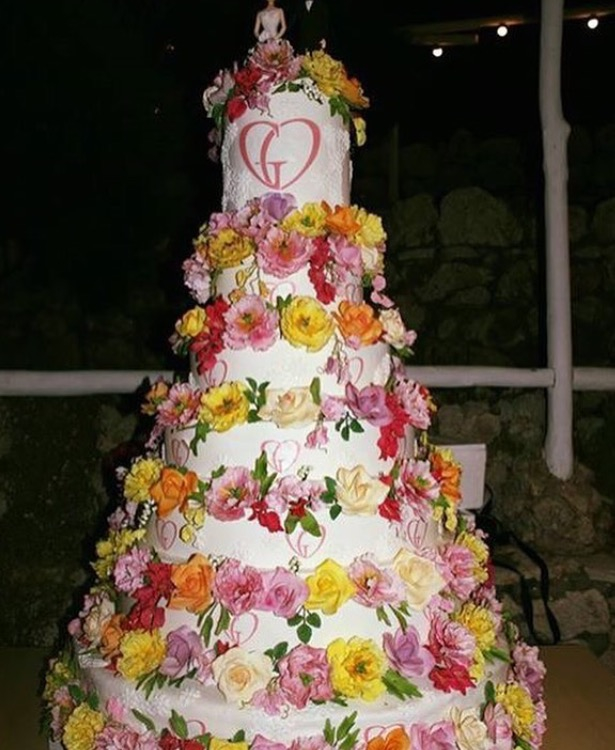 Giovanna Battaglia Capri Wedding: The Cake