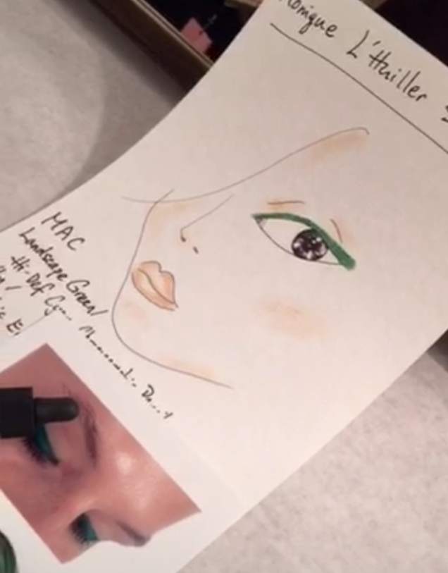 Monique Lhuillier by Val Garland For Mac Cosmetics- Make Up Chart