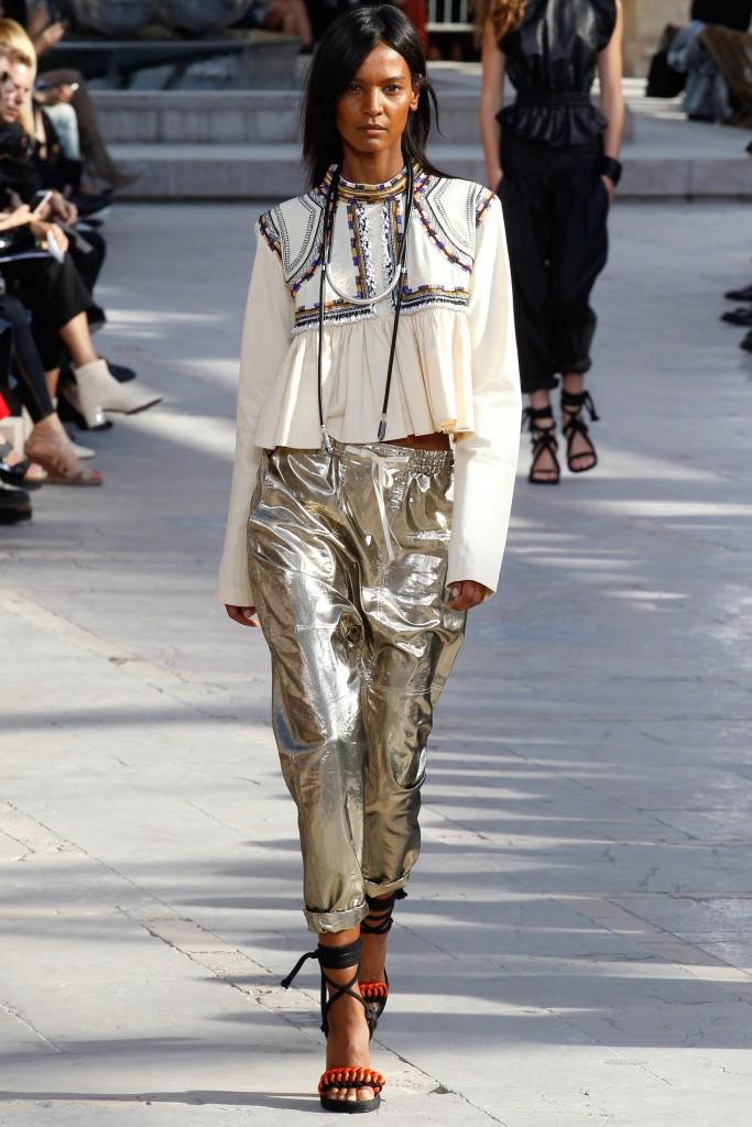 Isabel Marant SS16 Metallic Pants