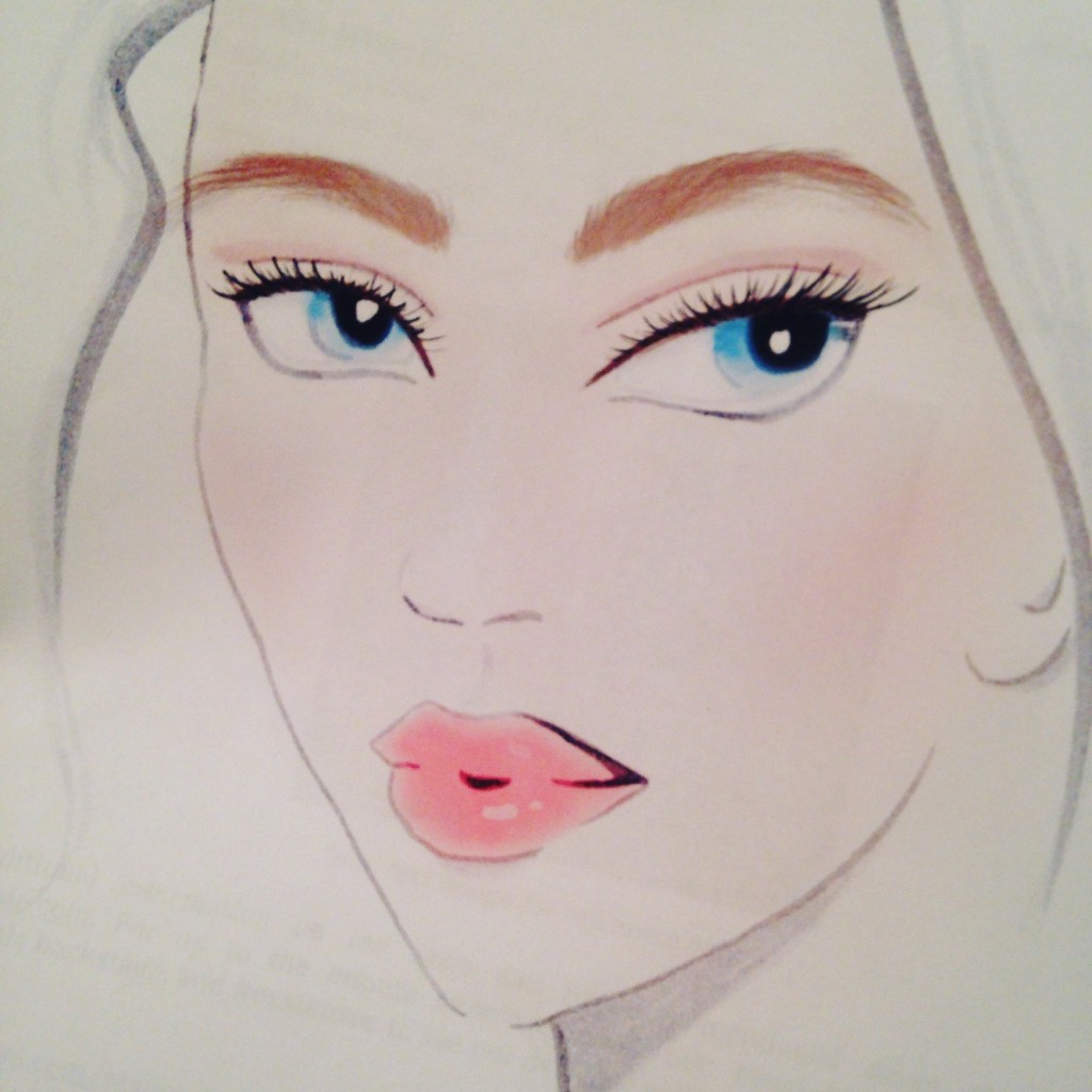 Face Chart For Naeem Khan SS16 Beauty- Gato for Maybelline