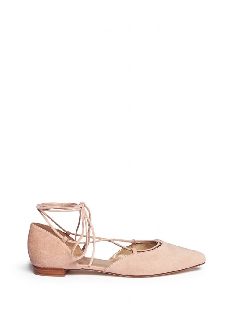 STUART WEITZMAN 'GILLIGAN' D'ORSAY SUEDE LACE-UP
