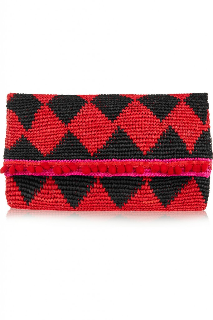 Sensi Studio red and black clutch