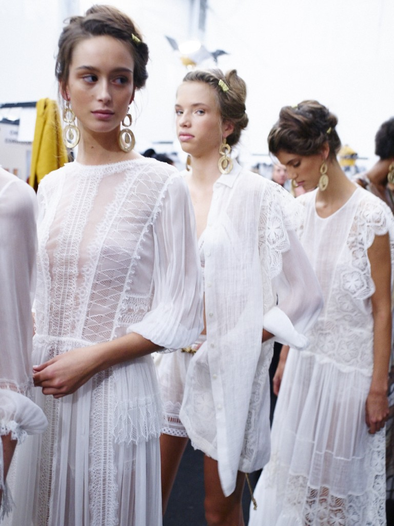 Backstage At Alberta Ferretti SS16