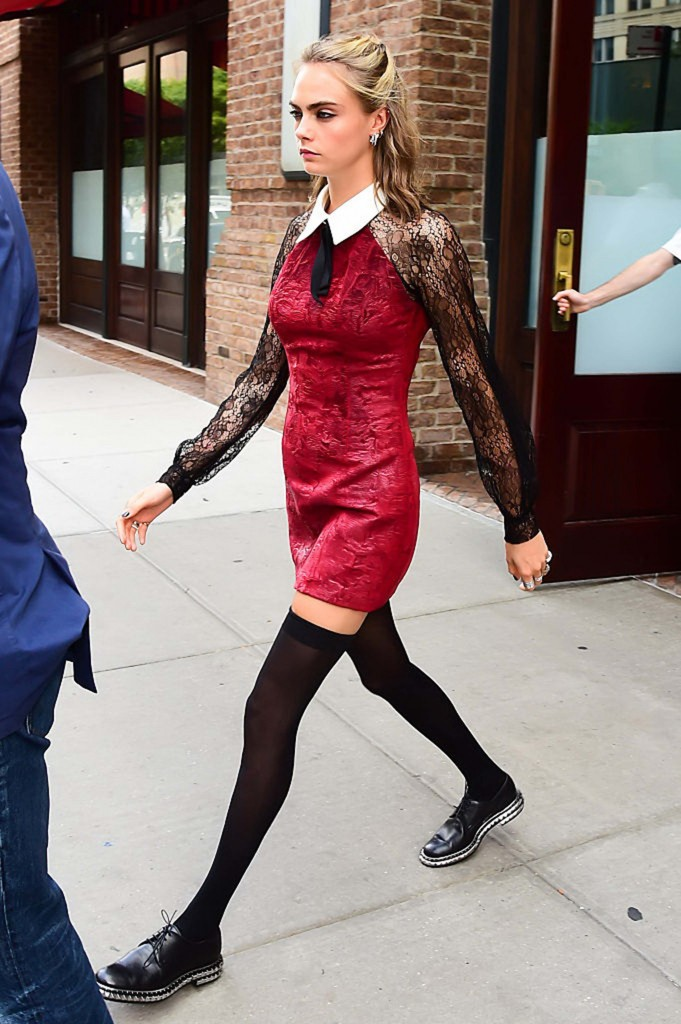 Cara Delevingne Wearing Georges Chakra in NYC