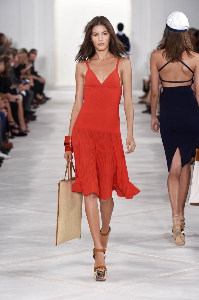Ralph Lauren SS16 NYFW New York Runway Red Dress