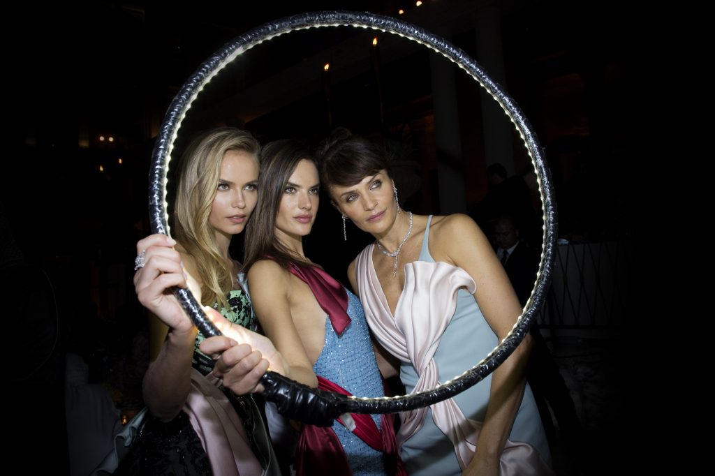 Natasha Poly, Alessandra Ambrosio and Helena Christensen Palazzo Versace