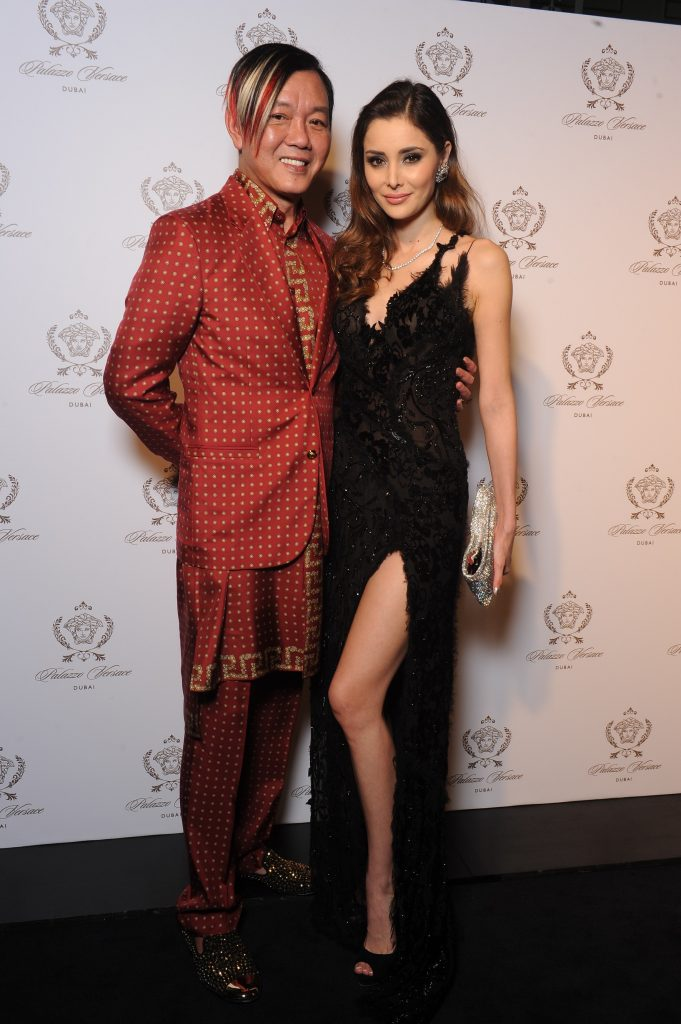 Stephen Hung and Deborah Hung at Palazzo Versace Grand Opening in Dubai