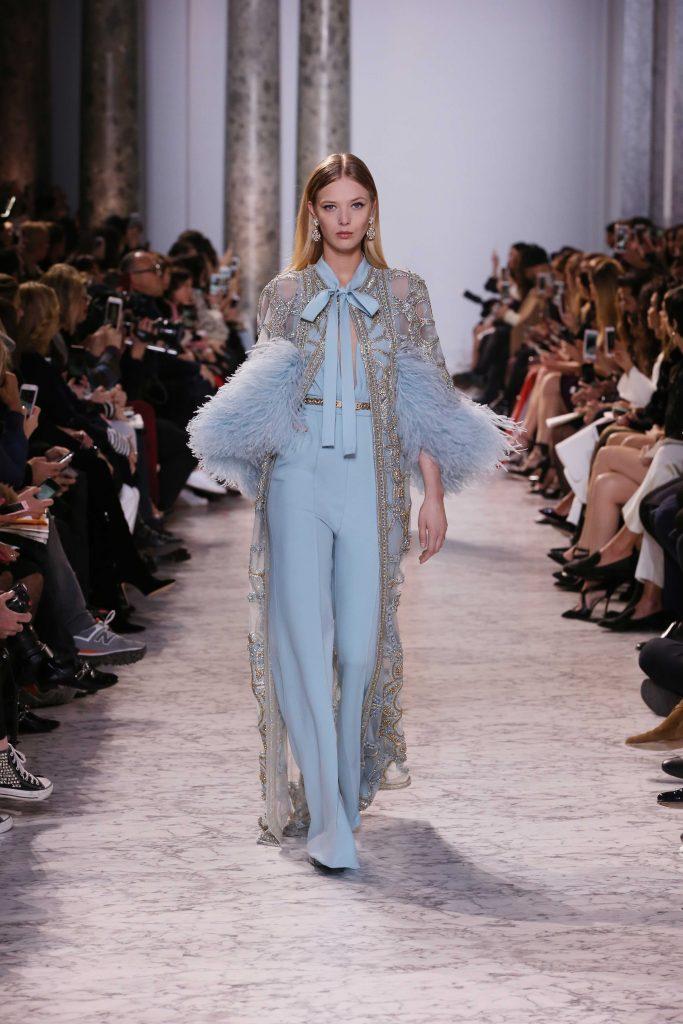 Elie Saab Couture SS17 Paris Fashion Week Lingerie trend kimono