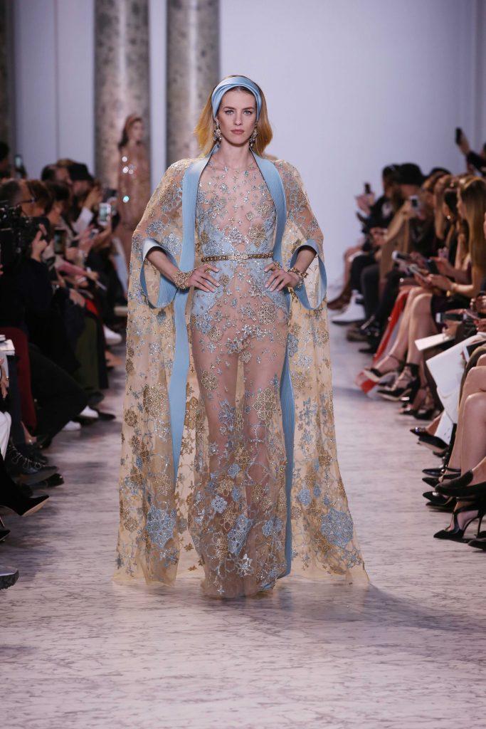 Elie Saab Couture SS17 Paris Fashion Week runway Lingerie trend kimono