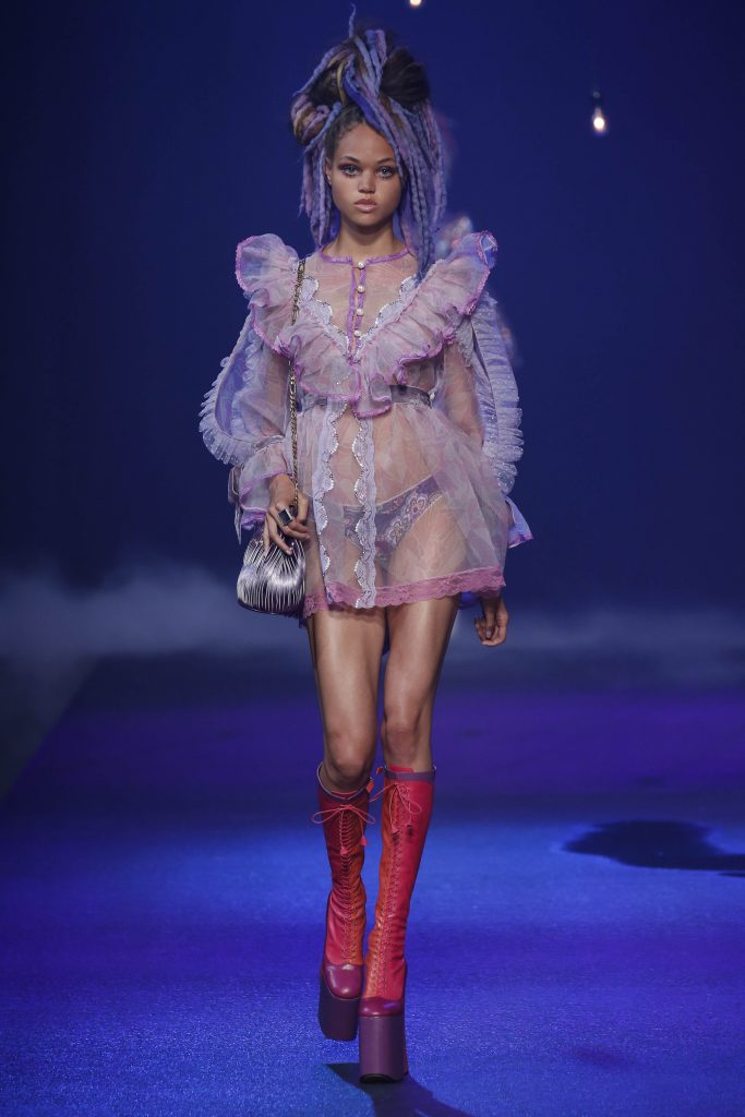 Marc Jacobs SS17 NYFW Runway sheer outfit
