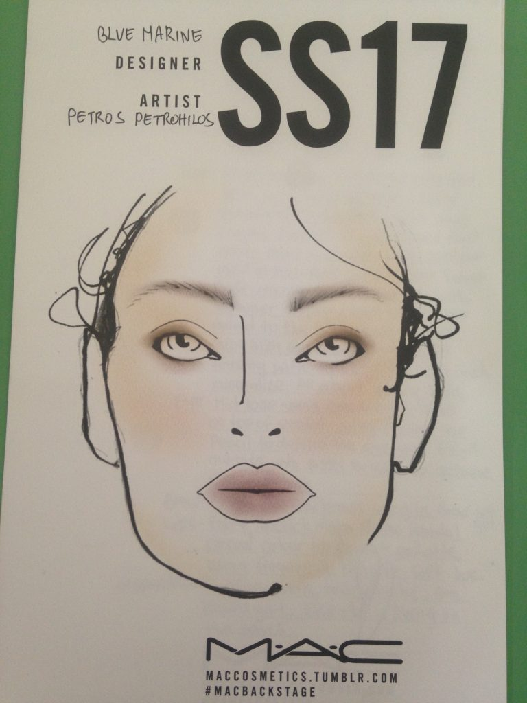 Blumarine SS17- Mac Cosmetics Make up chart Backstage
