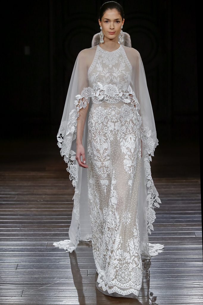 Capes- Naeem Khan Bridal Wedding Dress bridal Trends