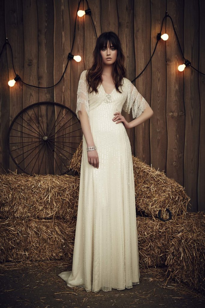 Jenny Packham Bridal SS17 wedding dress with fringe bridal trends