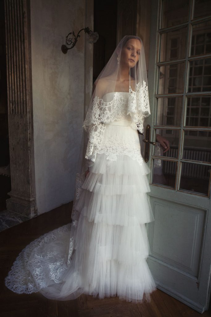Alberta Ferretti Bridal wedding dress with ruffles