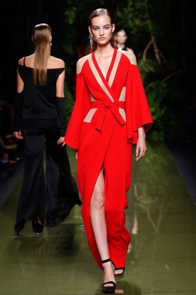 Balmain SS17- Red Dress Worn by taylor Swift